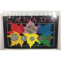 Canada 1951 Year Set in Maple Leaf Themed Holder