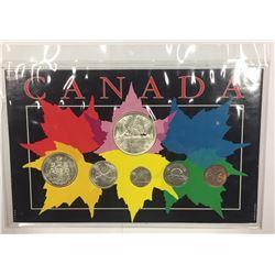 Canada 1960 Year Set in Maple Leaf Themed Holder