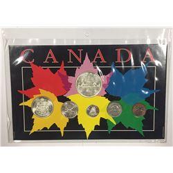 Canada 1962 Year Set in Maple Leaf Themed Holder