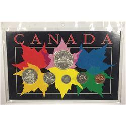 Canada 1966 Year Set in Maple Leaf Themed Holder