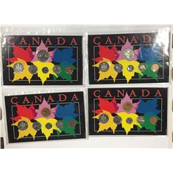 Canada Lot of 4 Year Sets in Maple Leaf Themed Holders