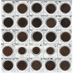 Canada Lot of 25 1 Cent Coins