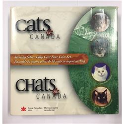 Canada 1999 50 Cent Cats of Canada Coin Set