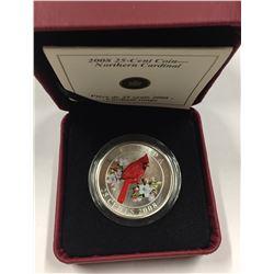 Canada 2008 25 Cent Northern Cardinal - Scarce