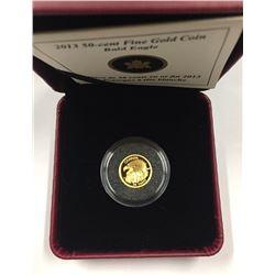 Canada 2013 50 Cent Bald Eagle 1/25 oz Gold Coin