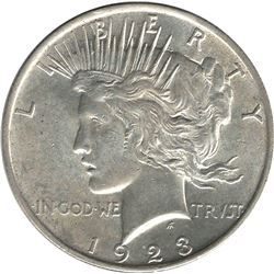 United States 1923 Silver Peace Dollar UNC