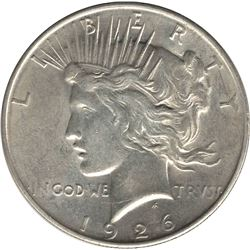 United States 1926-D Silver Peace Dollar AU