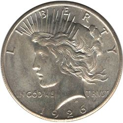 United States 1926 Silver Peace Dollar UNC