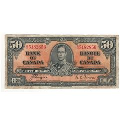 Canada 1937 $50 Banknote Coyne-Towers B/H BC-26c F stains