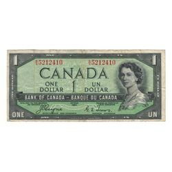 Canada 1954 $1 Devils Hair Banknote Coyne-Towers B/A BC-29a VF