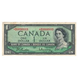 Canada 1954 $1 Low Serial Number Replacement SCARCE!