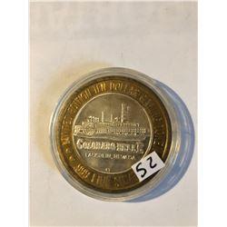 Silver Strike $10 Casino Coin .999 Fine Silver Limited Edition COLORADO BELLE *SHIP WINNER* Laughlin