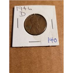 1946 D Wheat Penny Great Detail