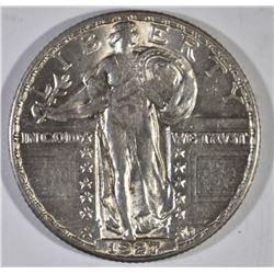 1927 STANDING LIBERTY QUARTER, CH BU