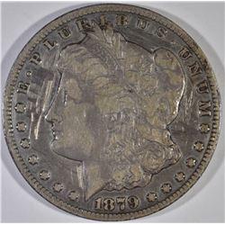 1879-CC MORGAN DOLLAR, VF has a few marks