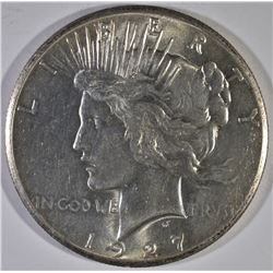 1927 PEACE DOLLAR, CH BU NICE