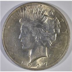 1927-D PEACE DOLLAR, CH BU KEY DATE