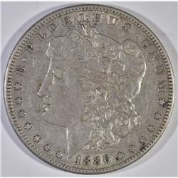 1886-S MORGAN DOLLAR, CH AU ORIGINAL
