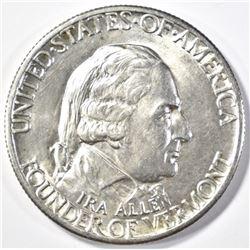 1927 VERMONT HALF DOLLAR  GEM BU