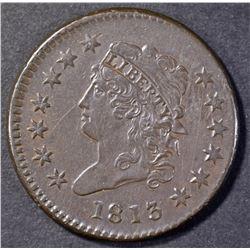 1813 CLASSIC HEAD LARGE CENT  AU/BU