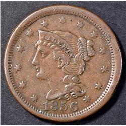 1856 LARGE CENT  XF/AU