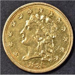 1836 CLASSIC HEAD $2.5 GOLD AU/BU