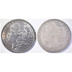 (2) 1899-O MORGAN DOLLARS  CH BU+  AVE CIRC