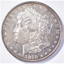 1878 8TF MORGAN DOLLAR  GEM BU