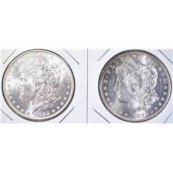 2 1882-O MORGAN DOLLARS CH BU