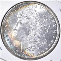1881 MORGAN DOLLAR CH BU GREAT COLOR