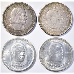 LOT OF 4 COINS:  (2) 1946-S GEM BOOKER T WASHINGTO