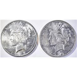 1922-D & 1923-S PEACE DOLLARS