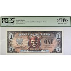 2007 DISNEY DOLLAR   PCGS  66PPQ
