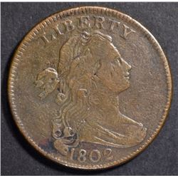 1802 LARGE CENT  VF/XF