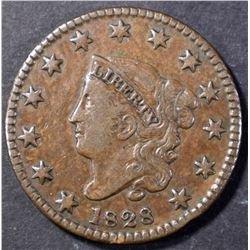 1828 SMALL WIDE DATE CHOICE XF LARGE CENT