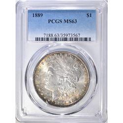 1889 MORGAN DOLLAR  PCGS  MS-63