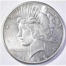 1926 PEACE DOLLAR CH BU+ FLASHY