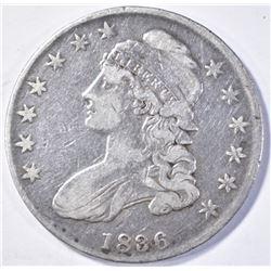 1836 CAPPED BUST HALF DOLLAR VF/XF