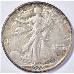 1929-S WALKING LIBERTY HALF DOLLAR AU+