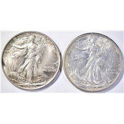 1934 & 39 WALKING LIBERTY HALF DOLLARS