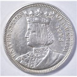 1893 ISABELLA QUARTER BU