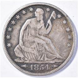 1854-O ARROWS HALF DOLLAR VF