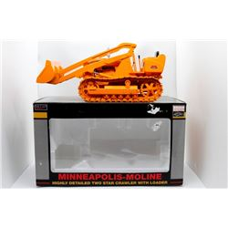 Minneapolis-Moline Highly Detailed 2 Star crawler w/ loader 1:16 Has Box