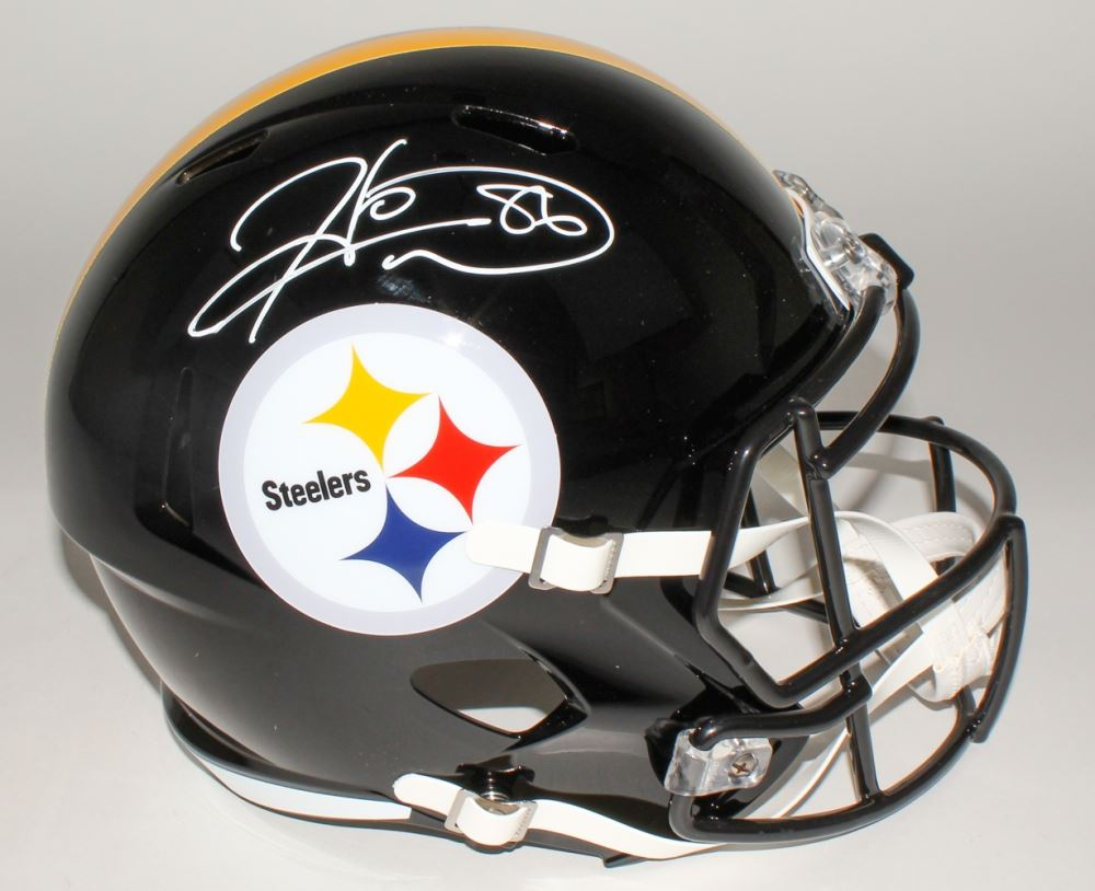 60dbbc27d3e Image 1 : Hines Ward Signed Steelers Full-Size Speed Helmet (JSA COA)