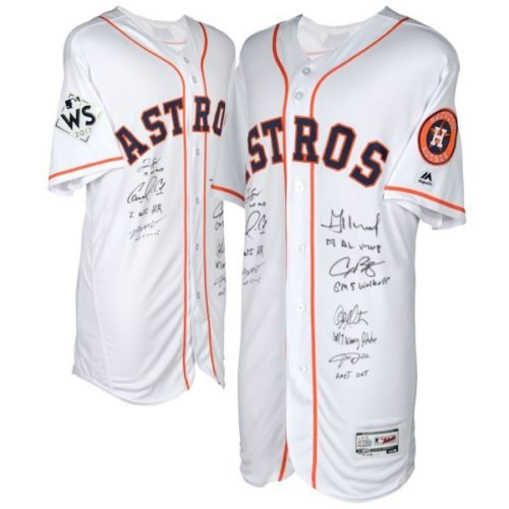 new arrivals d0a56 b2619 LE Astros Jersey Team-Signed by (7) With Brian McCann ...