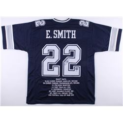 74a89a8f1c5 Emmitt Smith Signed Cowboys Career Highlight Stat Jersey (Beckett COA PROVA  Hologram)