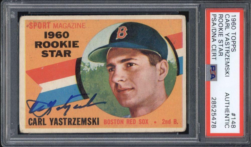 Carl Yastrzemski Signed 1960 Topps 148 Rc Psa
