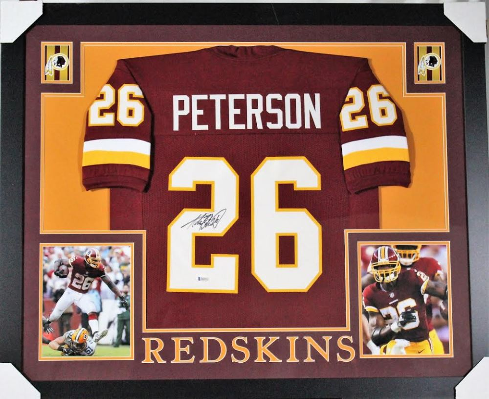 new arrival f2b18 30a49 Adrian Peterson Signed Washington Redskins 35x43 Custom ...