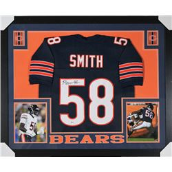 new concept 73a10 630d8 Roquan Smith Signed Chicago Bears 35x43 Custom Framed ...