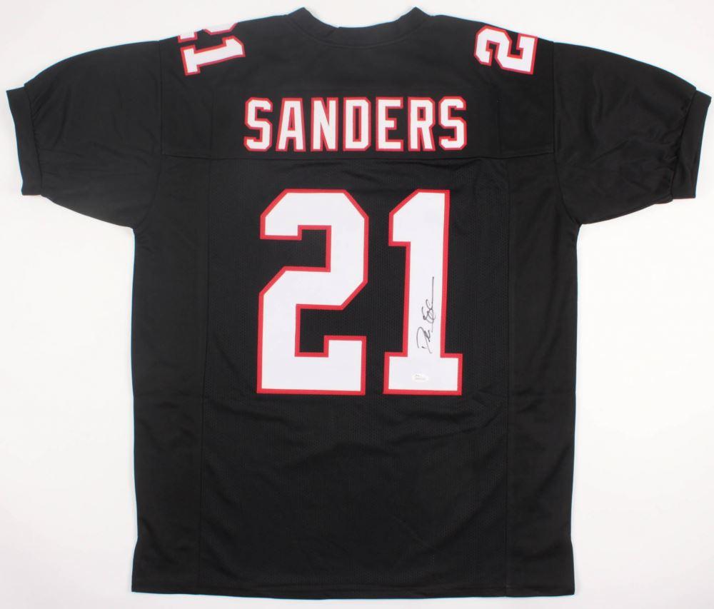 save off 5e704 05ea7 Deion Sanders Signed Atlanta Falcons Jersey (JSA COA)